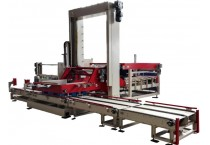 Otomatis Teknik Palletizing Mesin Untuk Kertas Karton dan Shrink Pack